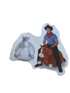 Horse and unicorn